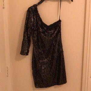 Sequin Homecoming/Vegas dress // one shoulder